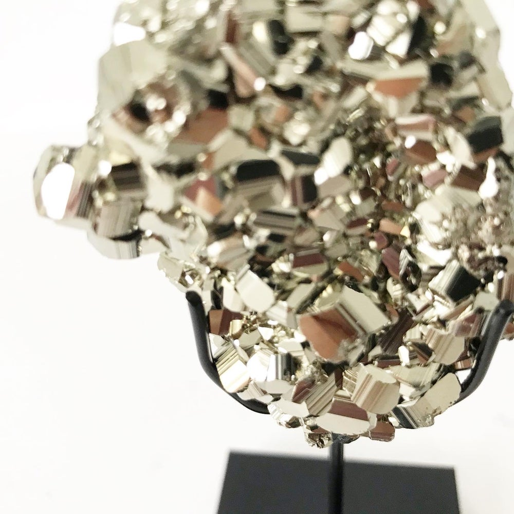 Image of Pyrite no.05 + Matte Black Lucite Stand