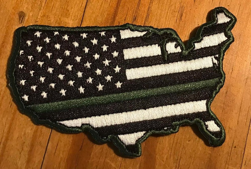 Image of GREEN LINE FLAG USA PATCH