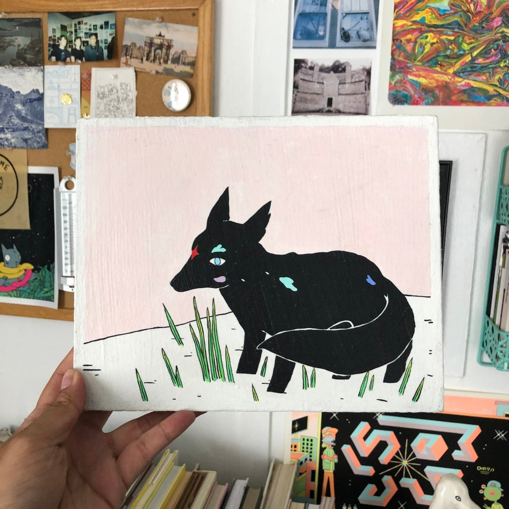 Image of Wolf Painting