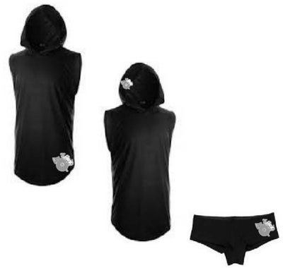 Image of LSP : GIRL'S BLACK HOODED SHIRT