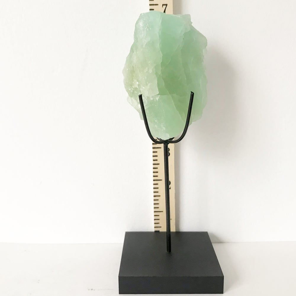 Image of Aquamarine no.40 + Matte Black Lucite Stand