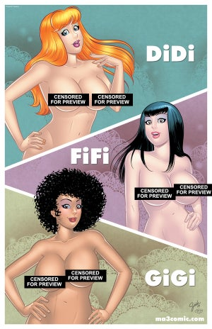 "Image of DiDi, FiFi and GiGi 11""x17"" poster"