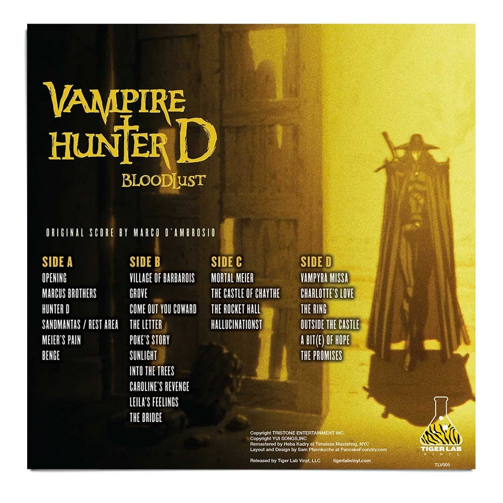 """Vampire Hunter D: Bloodlust"" LIMITED EDITION LP - SHIPPING NOW!"