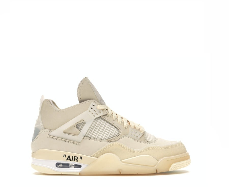 Image of NIKE X OFF WHITE AIR JORDAN 4 SAIL (W) CV9388-100