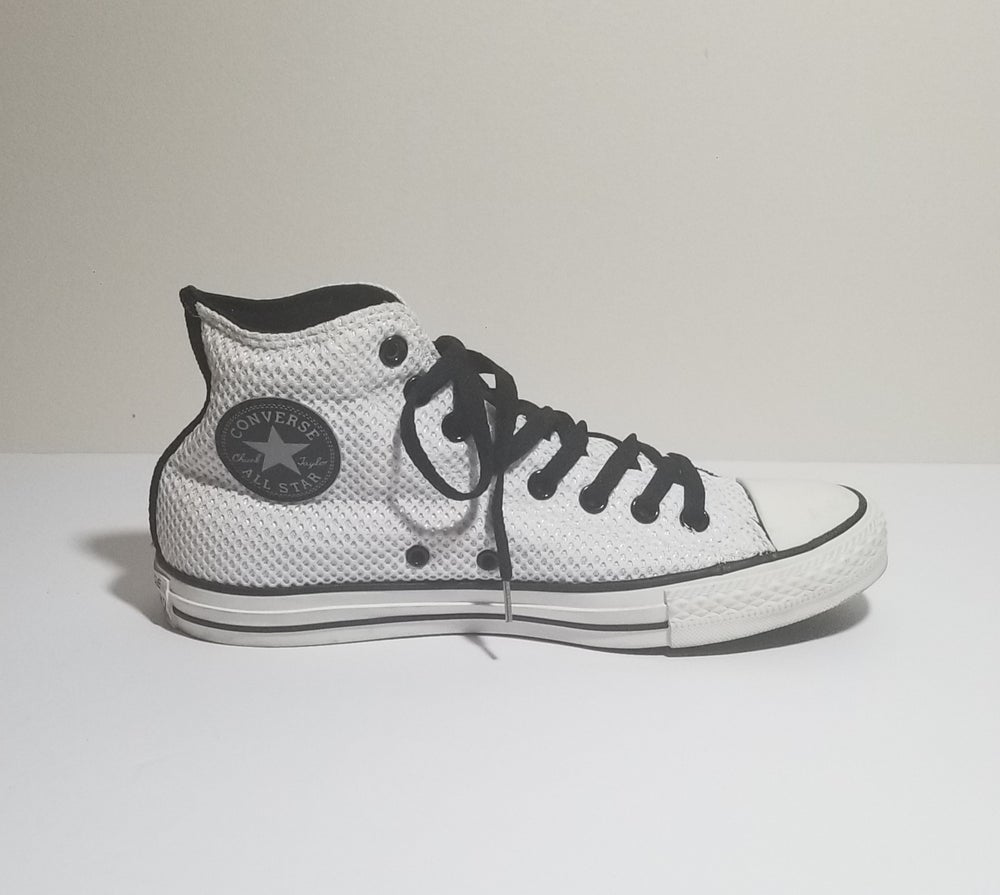Image of Converse All-Star Chuck Taylor Hi Black and White - Men's Size 8/ Women's Size 10