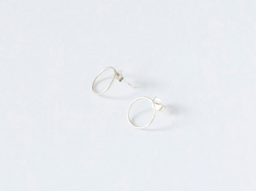 Image of New Moon Silver Earstuds