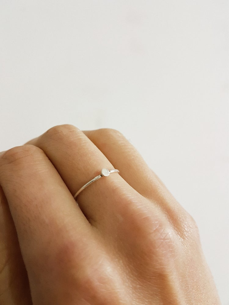 Image of Silver Drop Ring