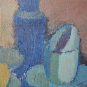 Image of 1920's Swedish Painting, 'Still life with Teacups.'