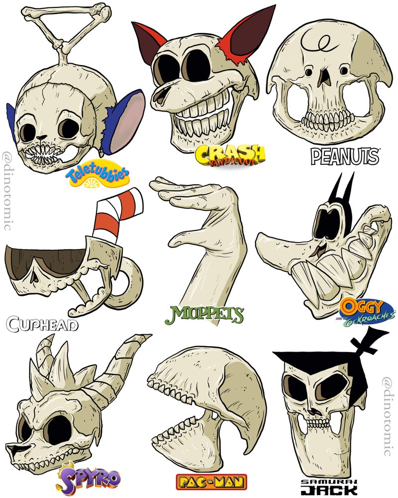 Image of #242 Cartoon Skulls page 7