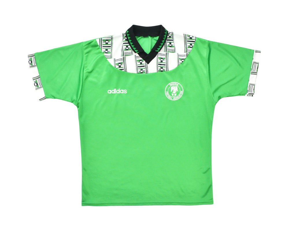 Image of 1994-95 Adidas Nigeria Home Shirt XL