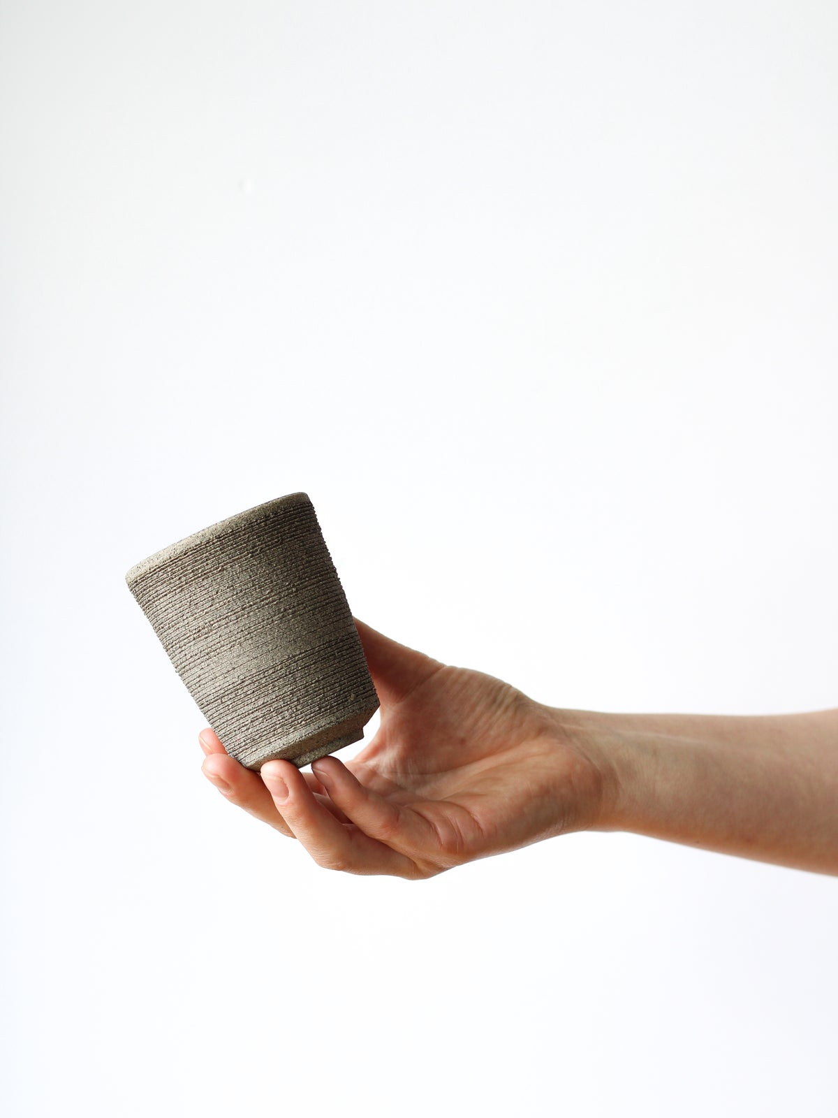 Image of textured tumbler (matt white)