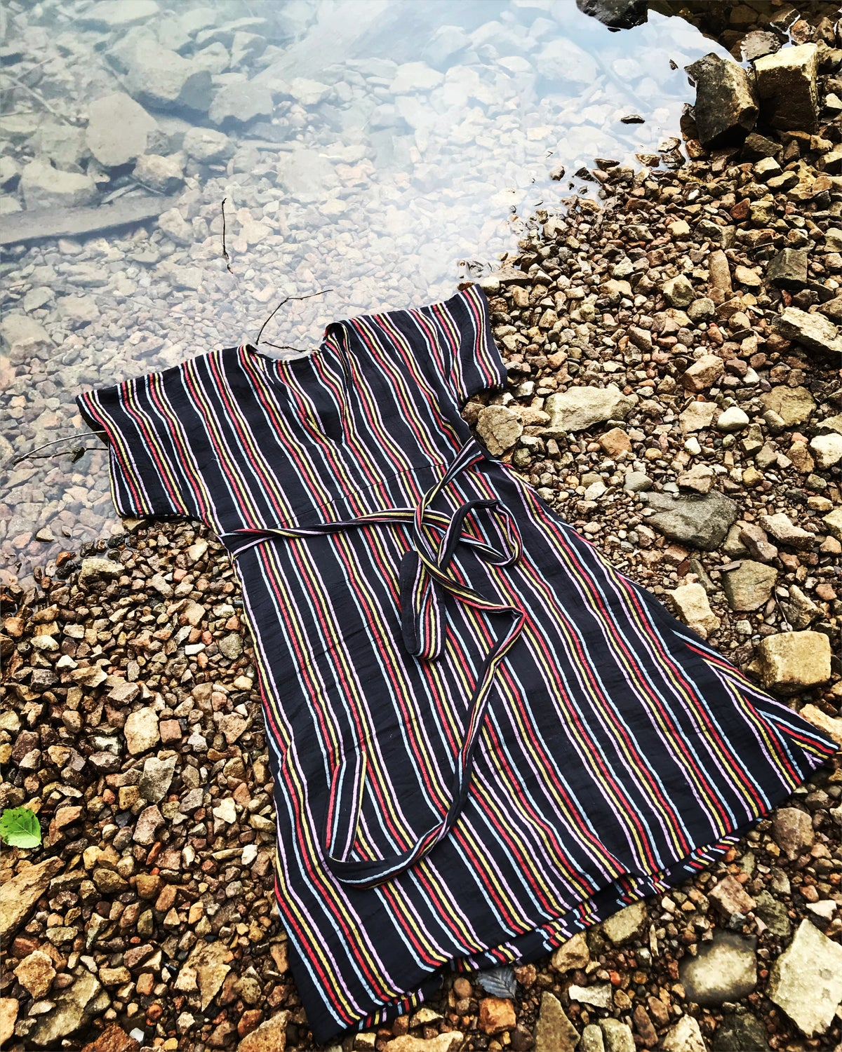 Image of Cotton Stripe Gauze Dress