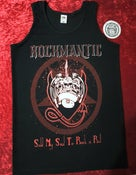 Image of ROCKMANTIC - Sold My Soul To Rock N Roll  VEST. Sizes small to XL (Free sticker)