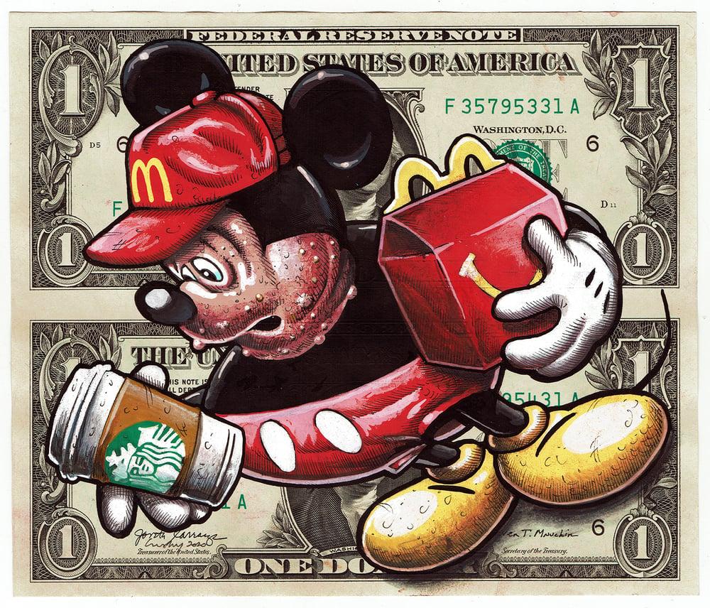 Image of Uncut Dollar Original. Morbid Mouse.