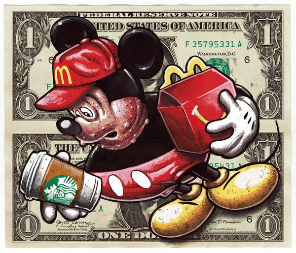 Image of Uncut Dollar Original. Morbid Mouse.
