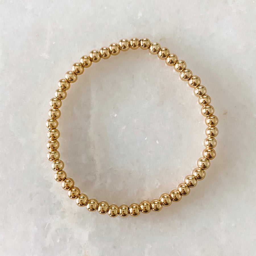 Image of Gold Bead Bracelet- 4mm