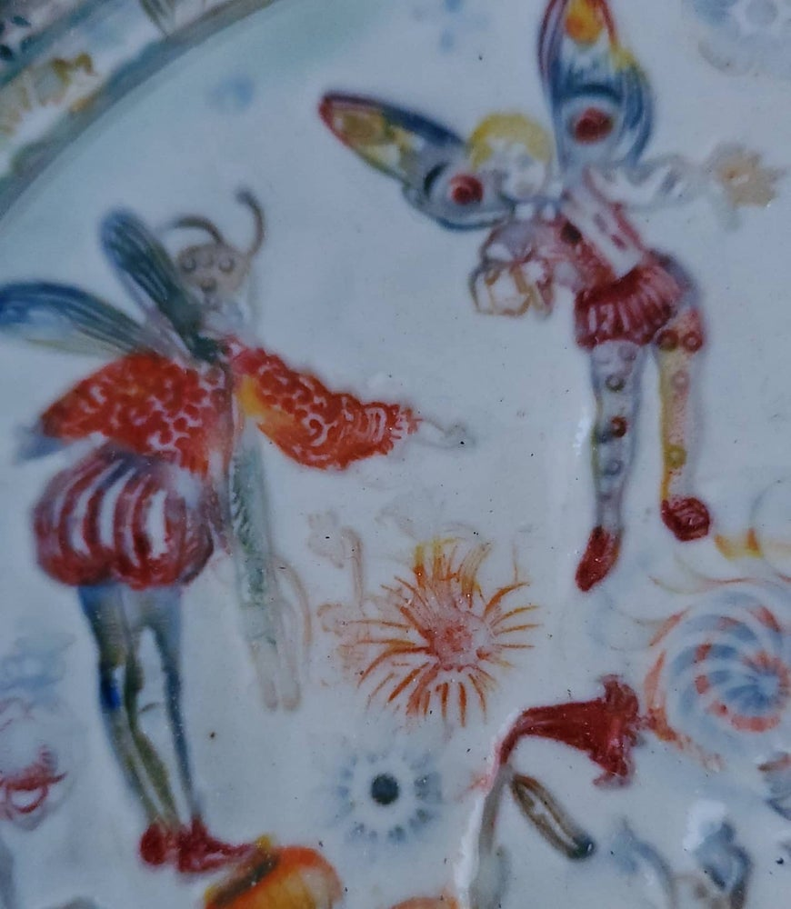 Image of Medieval Fairy Garden Porcelain Wall Art