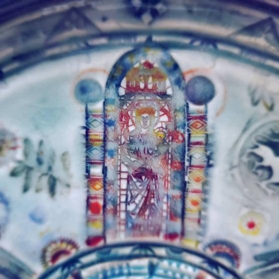 Image of  Medieval Madonna Porcelian Garlic Grater