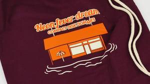 """Image of """"Neon Fever Dream"""" Gym Bag Burgundy"""