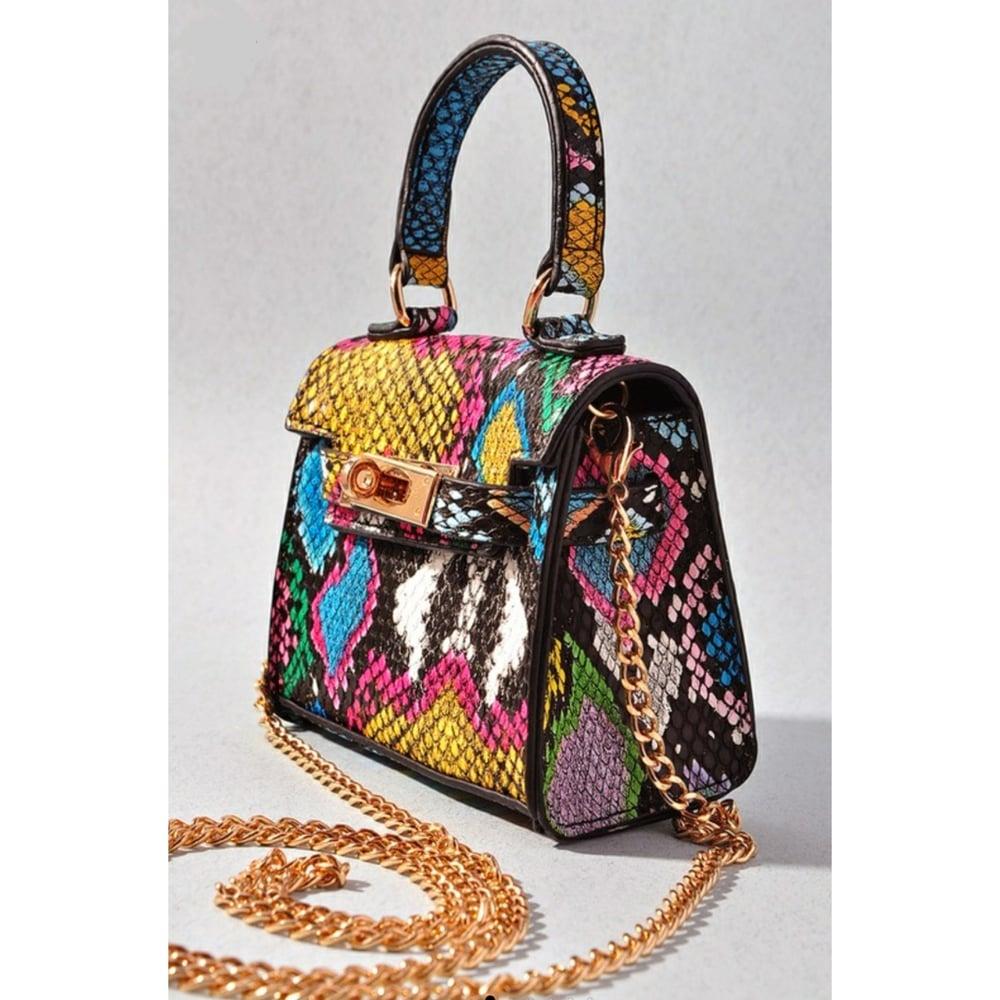 Image of Mini Snakeskin Bag