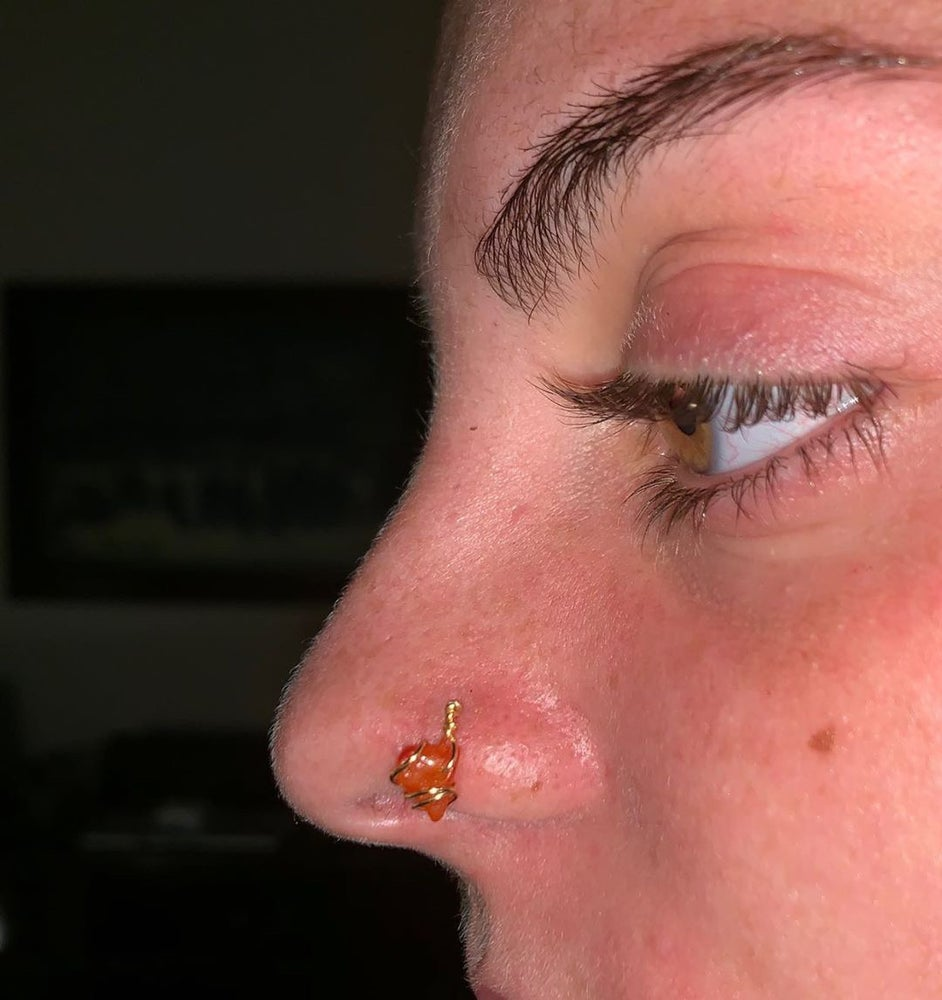 Image of The carnelian nose ring