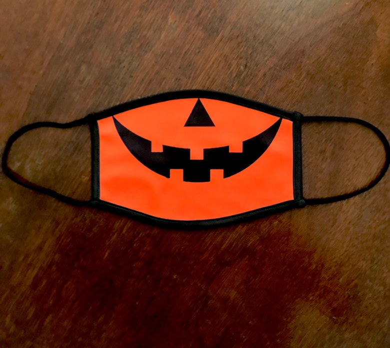 Image of Jack-O-Lantern Face Mask