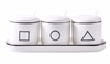 Coffee, Cream, Suger   3 piece seasoning jar