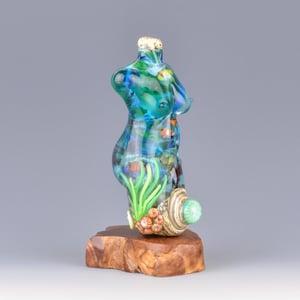Image of XXL. Tropical Reef Goddess - Flamework Glass Sculpture Bead