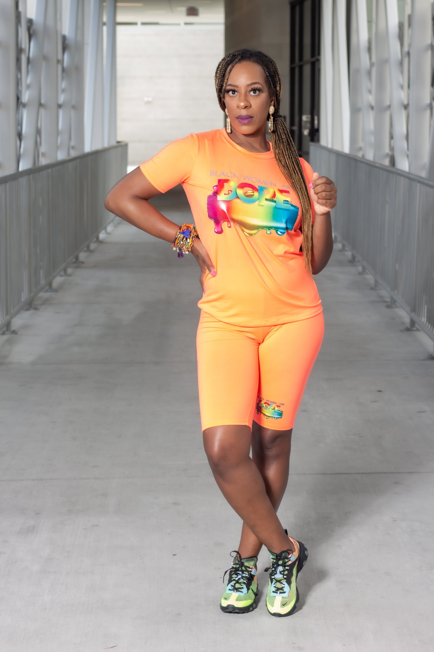 Image of 'Dope' Neon  Stretch Biker Short Set (S-L)