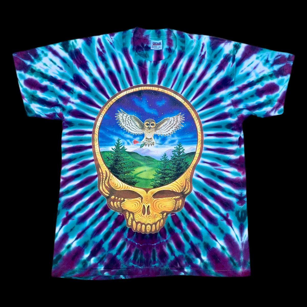 Original Vintage Grateful Dead 1993 Owl Stealie Tie Dye!! Large