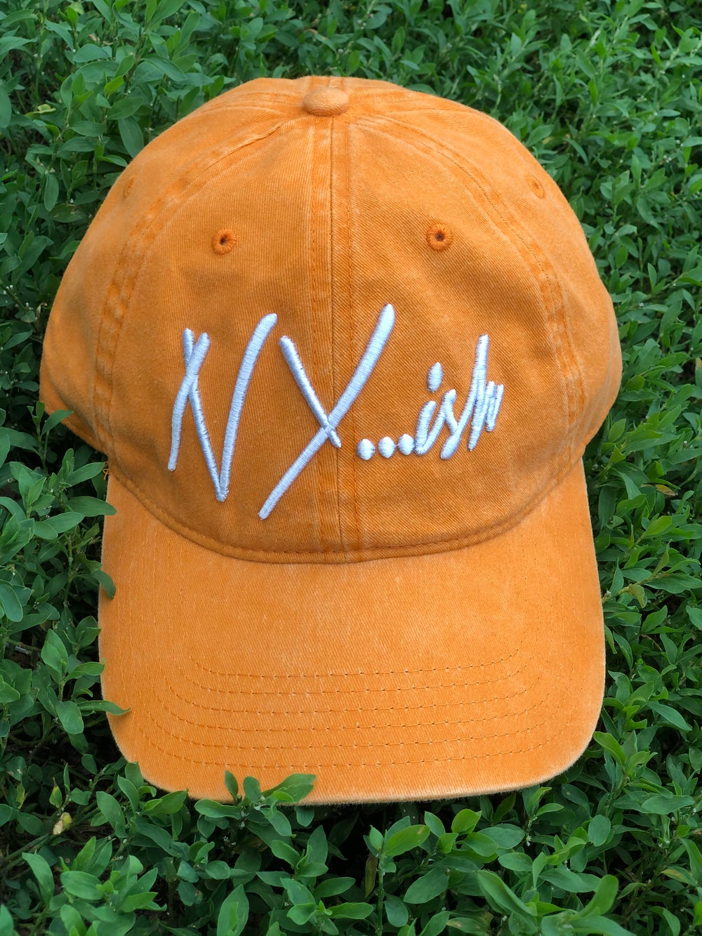 Image of Nyish Dad Hat (Orange) 4 left