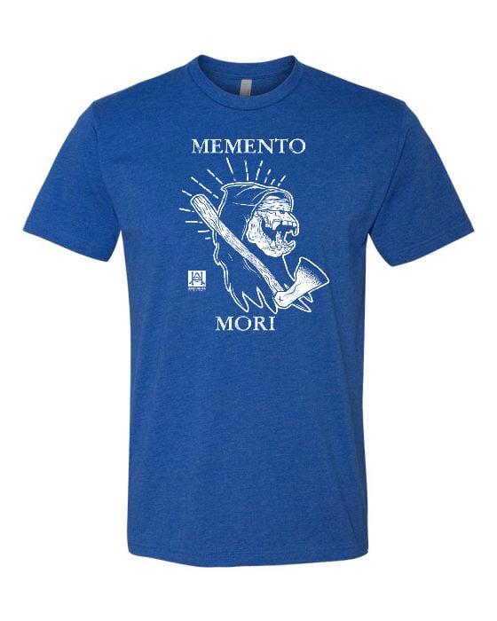 Image of HAC - Grim Ape Memento Mori BLUE Tee