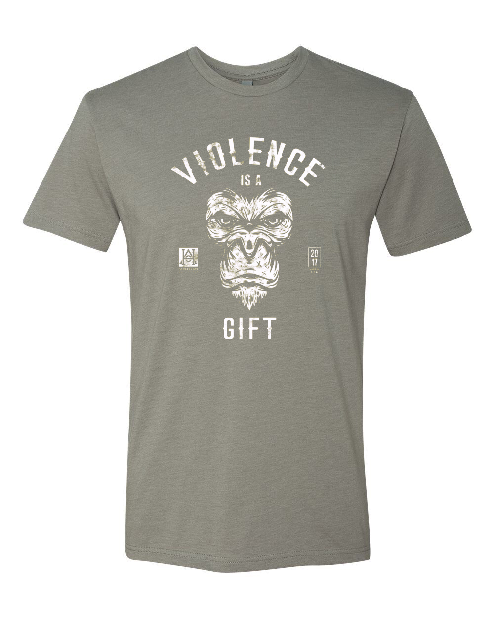 Image of HAC - Violence is a Gift / We Hit Grey Tee