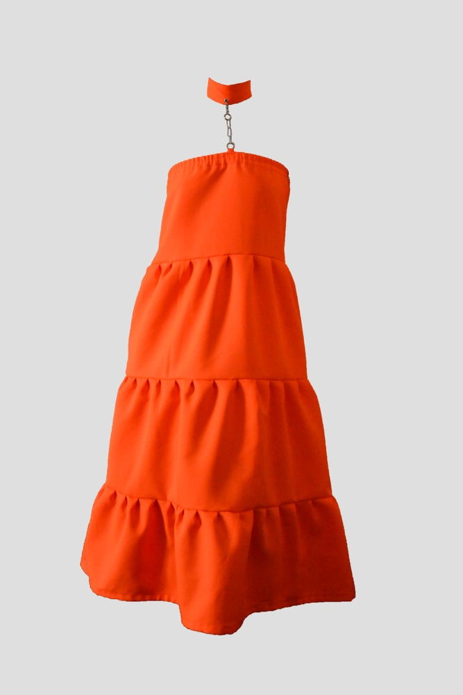 Image of neon cone dress