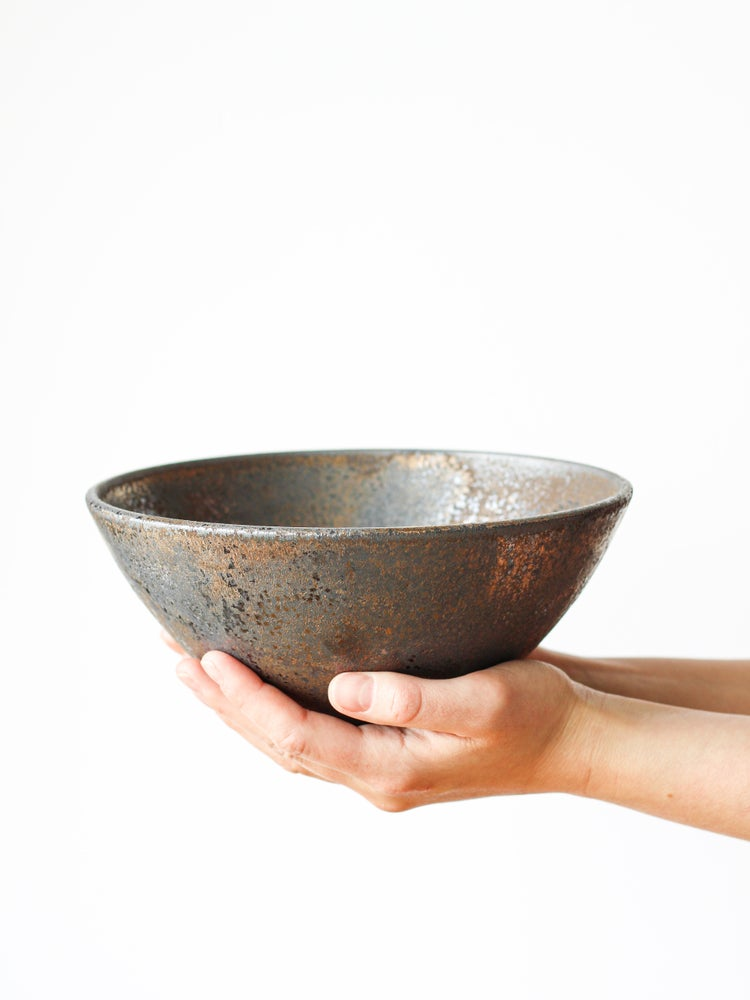Image of display bowl in rustic glaze