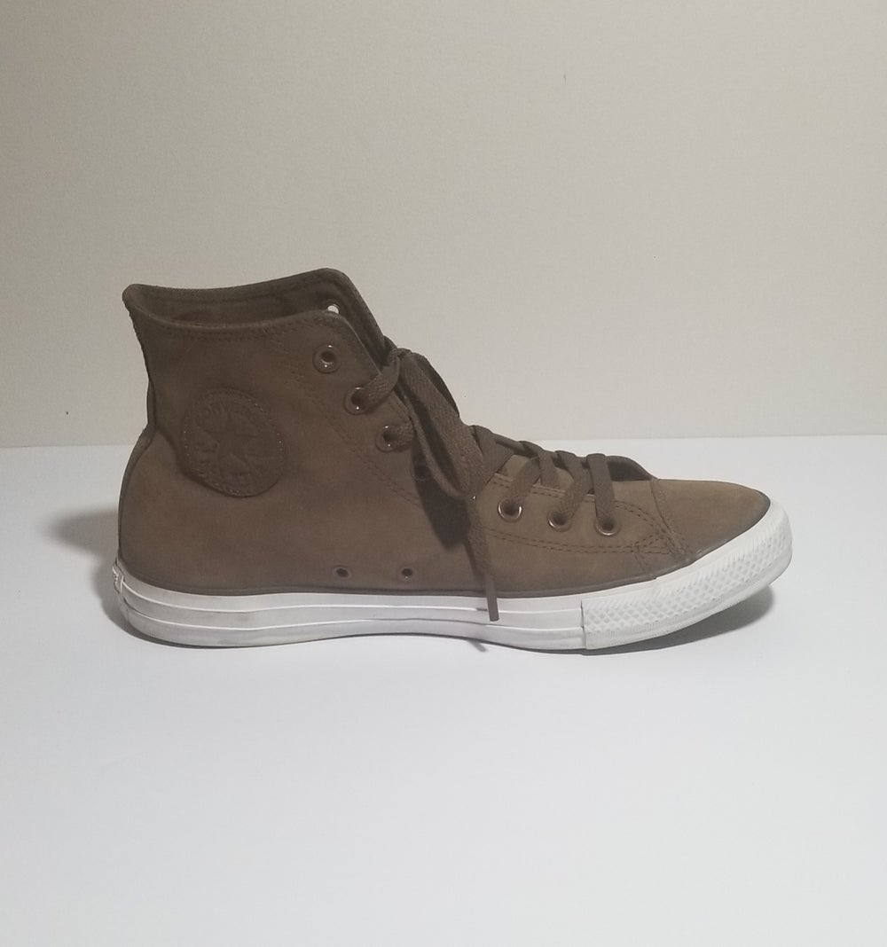 Image of Chucks Hi Suede Brown - Men's Size 9/Women's Size 11