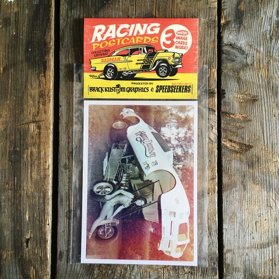 Image of RACING POSTCARDS 3er SET