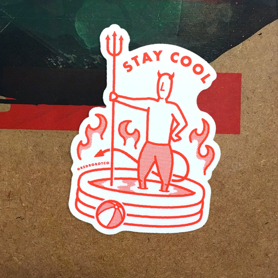 "Image of ""Stay Cool"" Sticker"