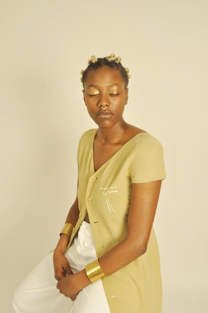 Image of olive line dress