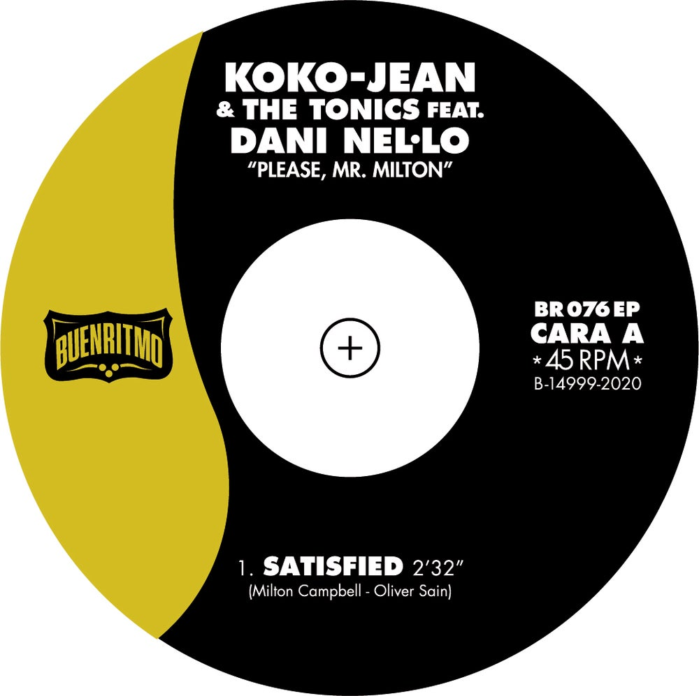 "Koko-Jean & The Tonics  featuring Dani Nel·lo ""Please Mr. Milton"" - 150 u. Vinilo Color"