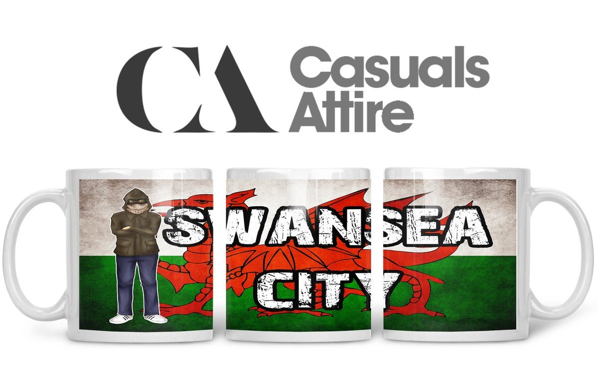 Swansea, Football, Casuals, Ultras, Fully Wrapped Mugs. Unofficial. FREE UK POSTAGE