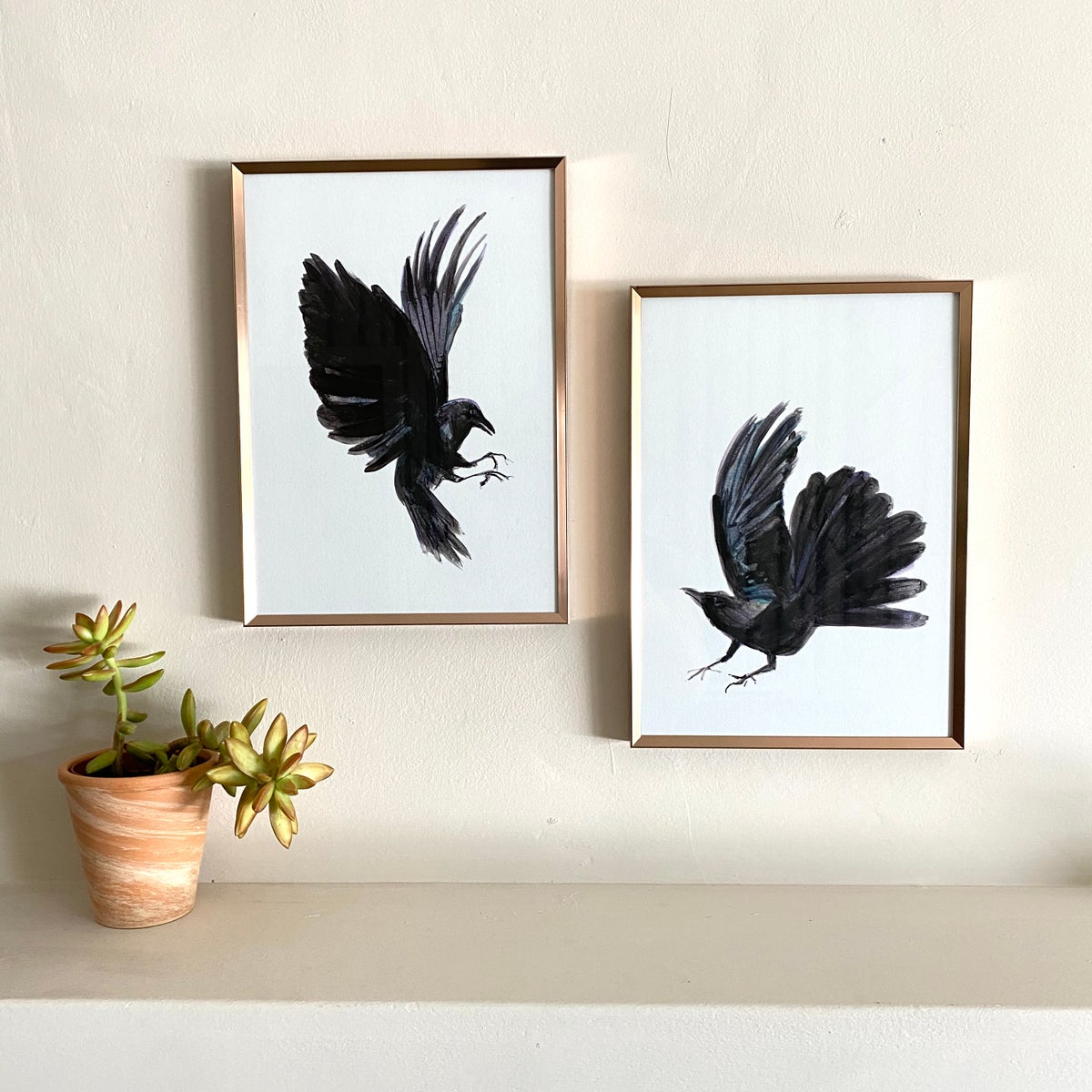 Image of 'Pair of Crows' - limited edition Giclee print(s)