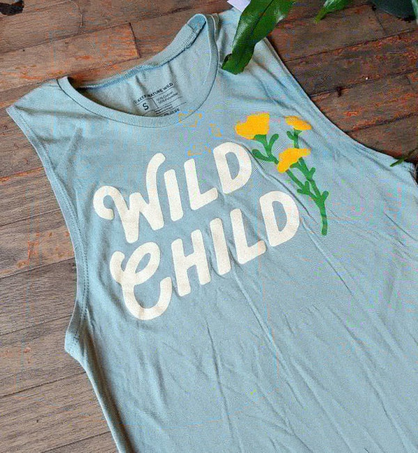 Image of Wild Child Seafoam Muscle Tank