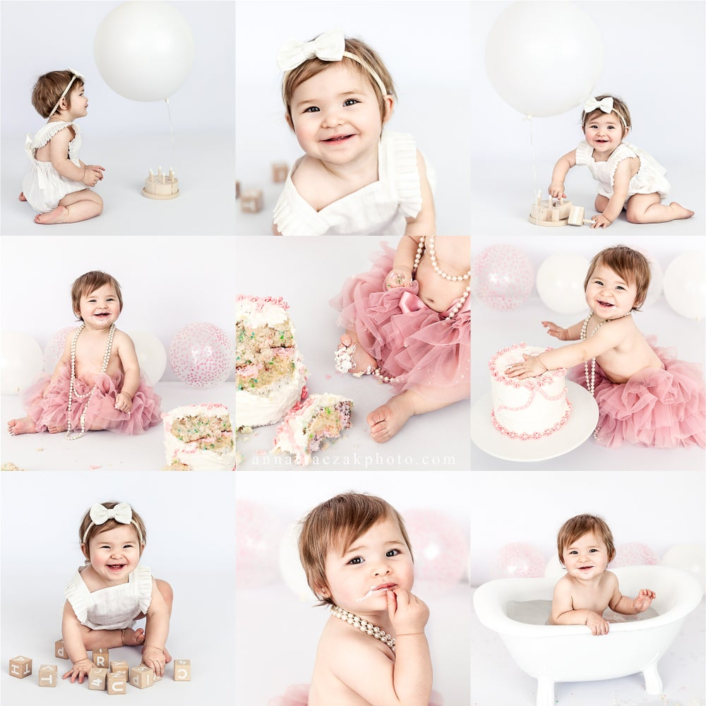 Image of 1 YEAR PORTRAITS & CAKE SMASH & SPLASH BATH. BOOKING FEE