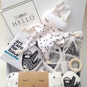 Image of Stars & Sloth Organic Baby Gift Box