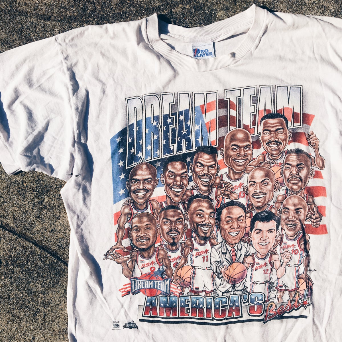 "Image of Original 1996 Pro Player ""Dream Team"" Tee."