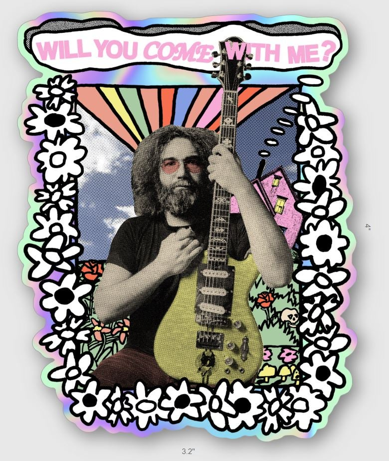 "Flower Jerry 4"" Holographic sticker"