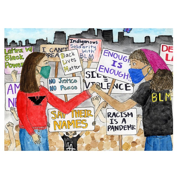 Image of united against injustice / print