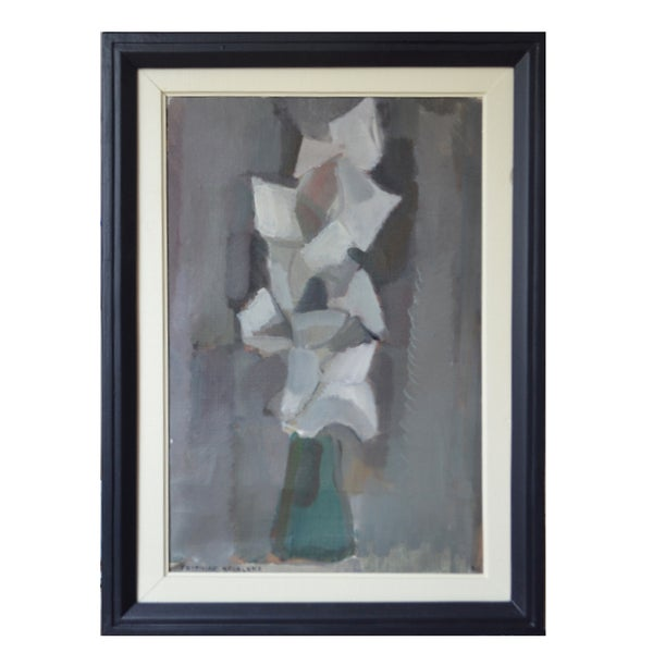 Image of 1960, Swedish Still Life Painting 'Lilies,'  Frithiof Berglund