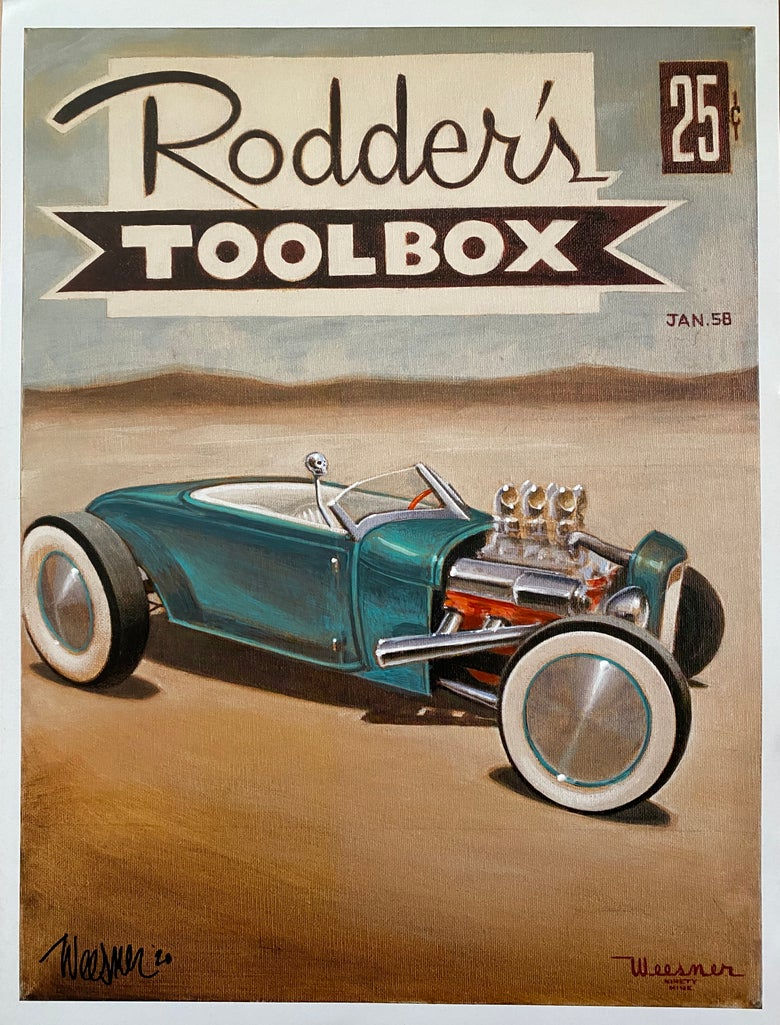 Image of Modified Rodder's Toolbox Rare litho print